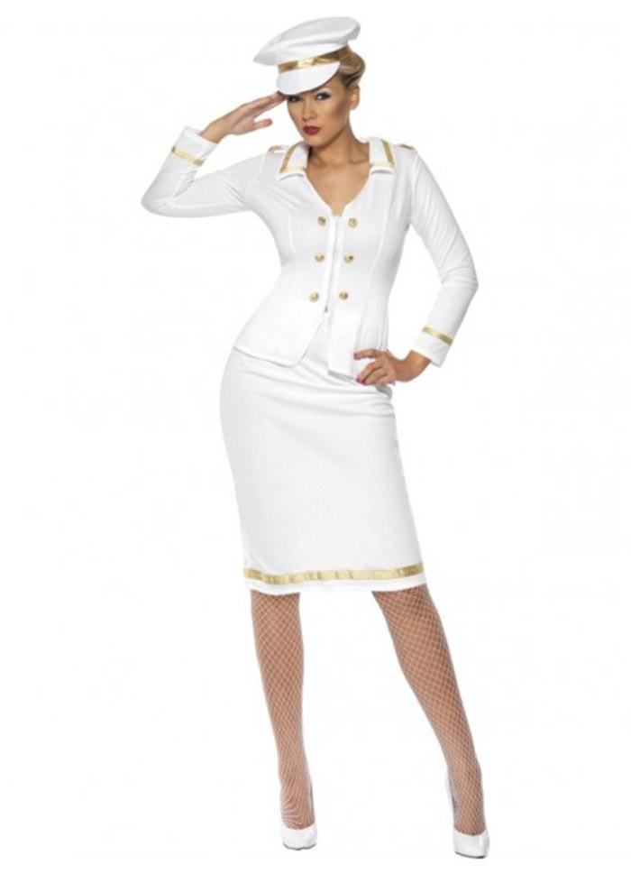 Smiffys Licensed Womens Officer S Mate Sailor Captain Navy Fancy