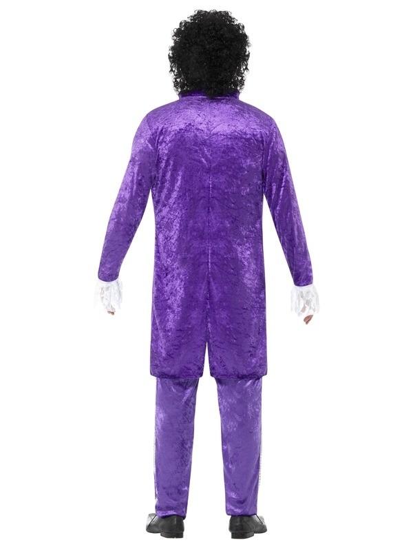 5d82406c67de13 Mens Adult 80s 1980s Purple Musician Singer Prince Pop Star Fancy Dress  Costume