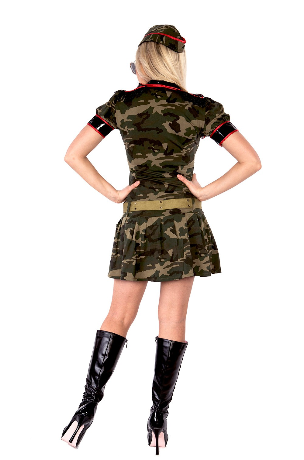 Ladies Army Girl Military Uniform Top Gun Flight Soldier Costume FBI ... 6d8a16288