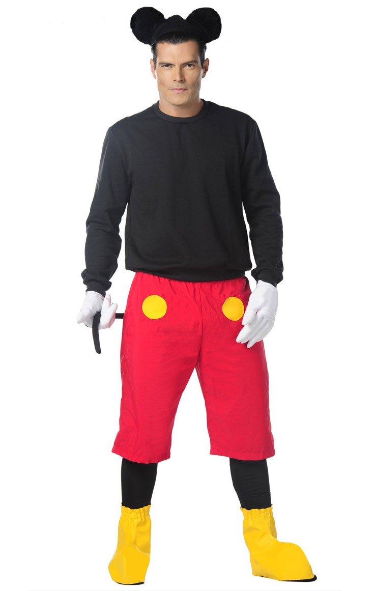 96b462c4452 Mens Mickey Mouse Halloween Fancy Dress Costume