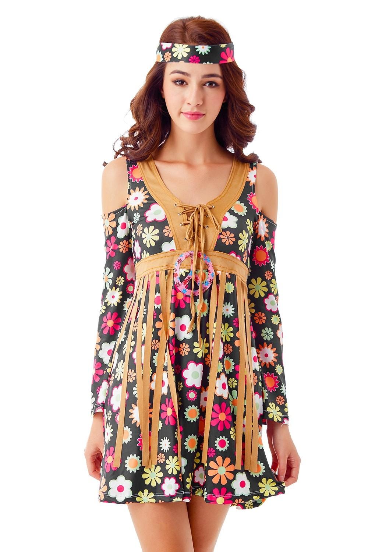 387dbc1dd4f77 Ladies 1960s 70s Disco Retro Groovy Hippie Go Go Girl Costume