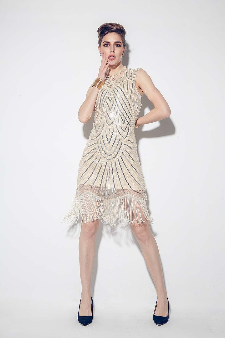 21a4672561ef ... 1920s Great Gatsby Charleston Party Costume Sequin Tassel Flapper Dress  gangster ladies. 1920s flapper dress_lx1001