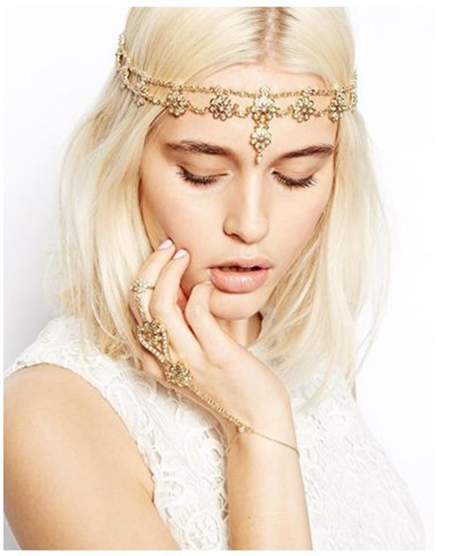 Deco Vintage Headband 20s Flapper Chain Headpiece Gatsby Bride 20/'s Boho Goddess