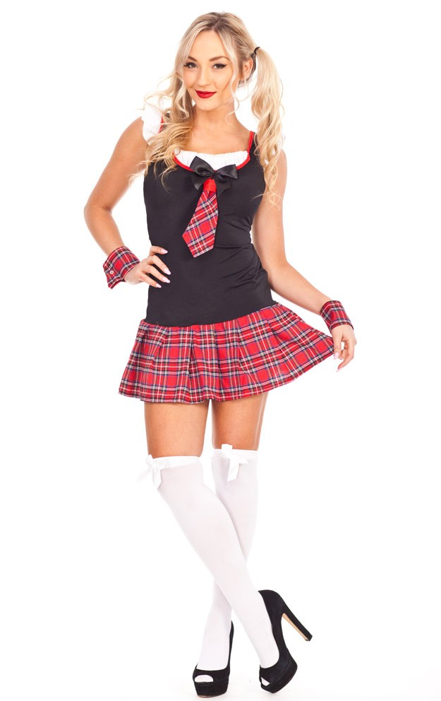 a2686a83862 ... Ladies Sexy School Girl costume Teachers Pet Fancy Dress Hens Night  Party Outfit. School Girl Costumes LZ-386