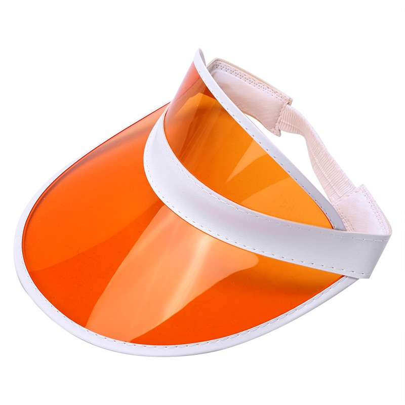 Orange Unisex Sun Visor Cap Golf Fancy Dress Colour Stretch Poker ... a54db8148d9