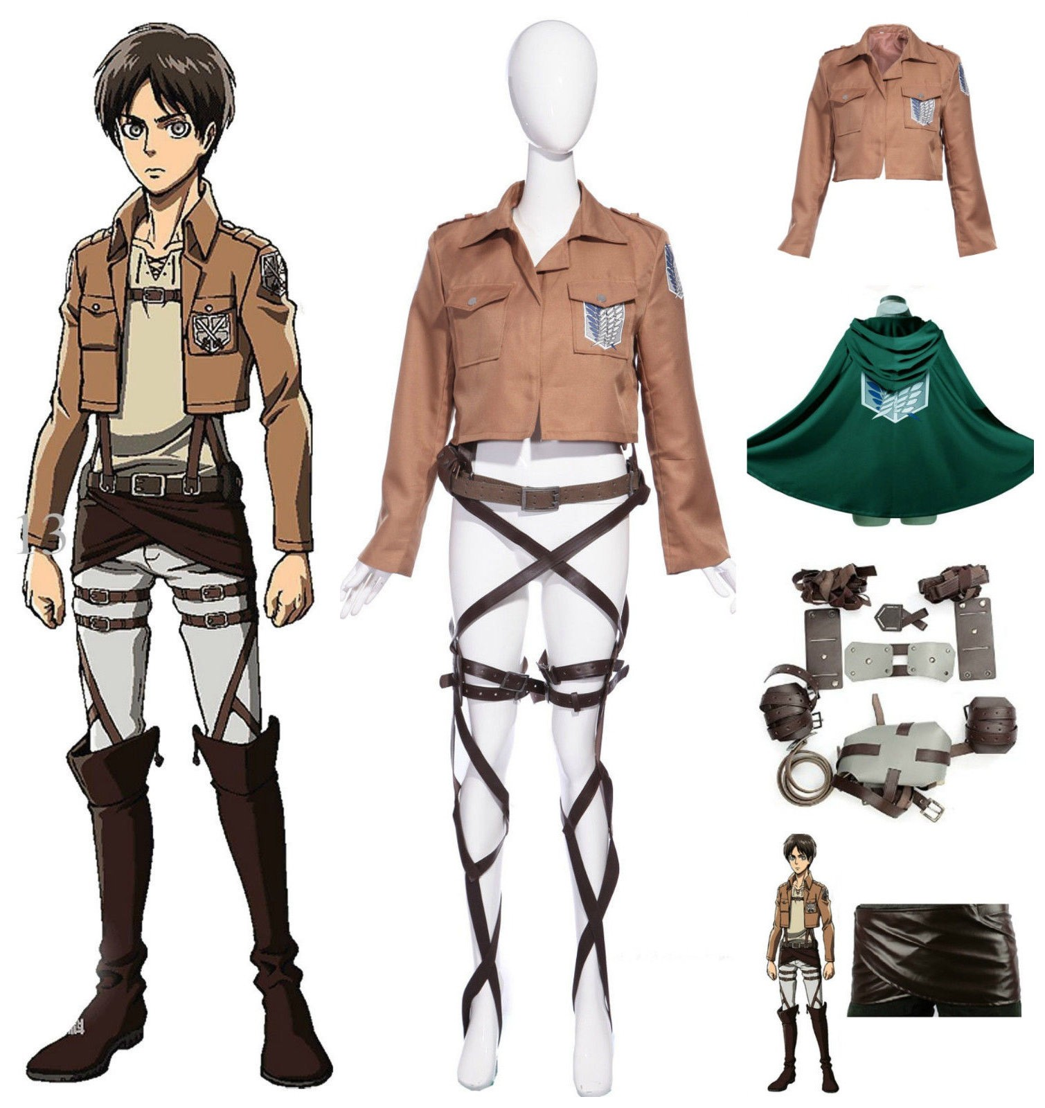 Ladies Attack On Titan The Recon Corp Mikasa Ackerman With