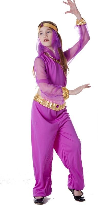 Princess Jasmine Aladdin Genie Belly Dance Arabian Fancy Dress Costume Cosplay