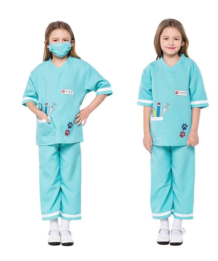 Girls Boys Kids Vet Occupation Nurse Book Day Fancy Dress Costume Outfit 4-12yrs