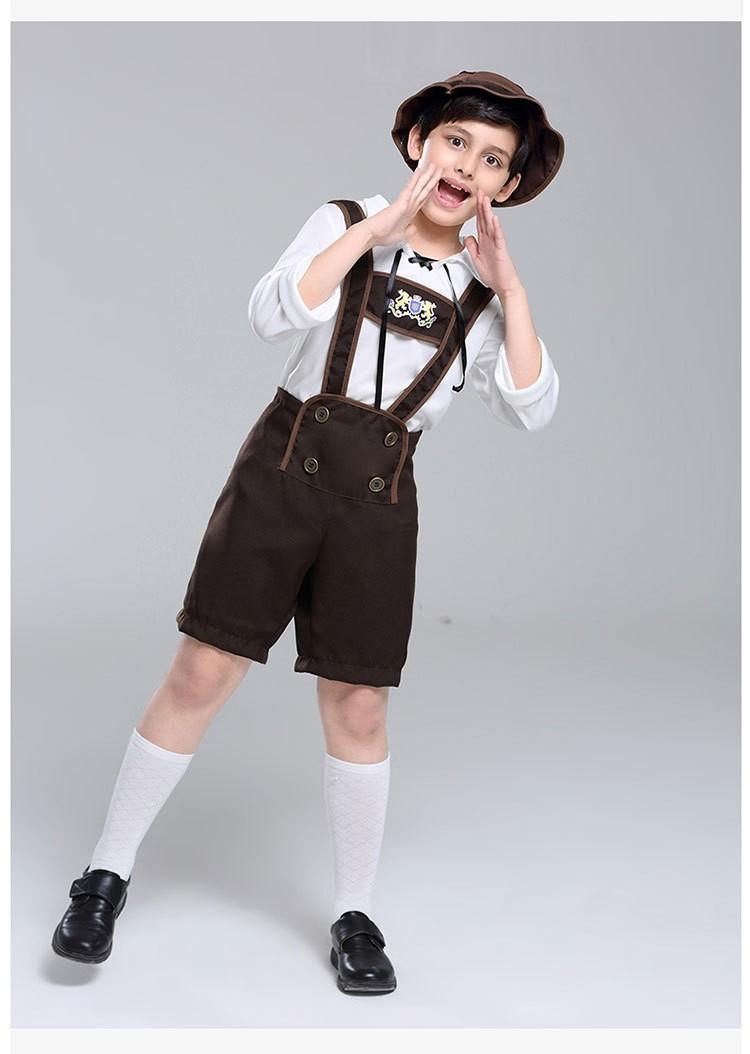 6c7fc9ca63f Bavarian Oktoberfest Lederhosen German Fancy Dress Up Boys Costume ...