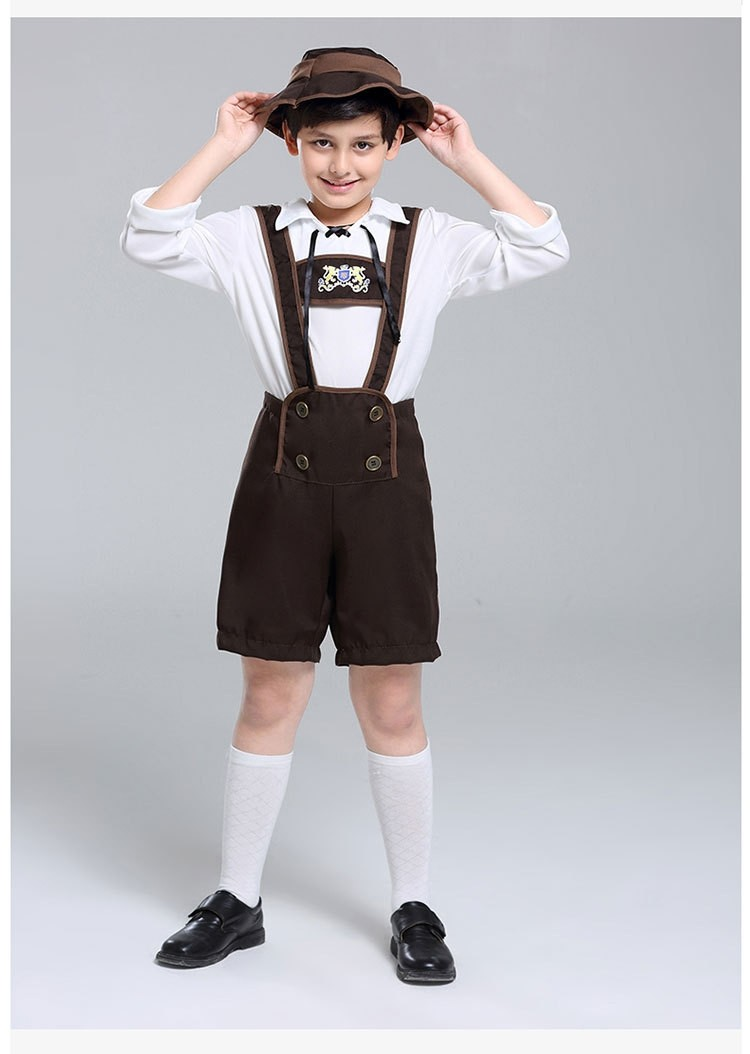 d50fe660b Bavarian Oktoberfest Lederhosen German Fancy Dress Up Boys Costume Kids  Book Week Day Outfit