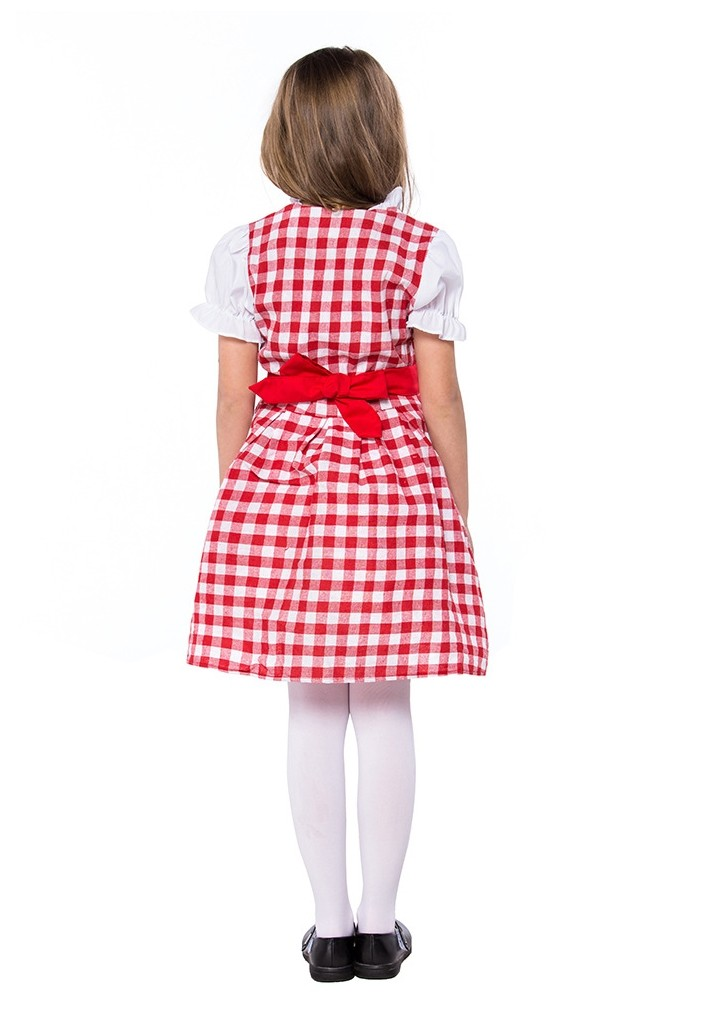 F4-4 Gilrs Oktoberfest Kids Dirndl German Beer Maid Book Week Costume