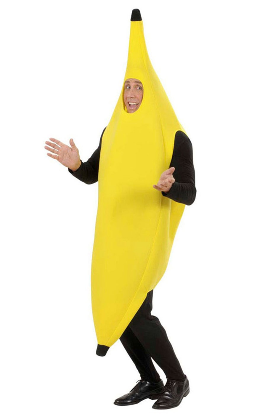 Adult Unisex Onesize Funny Banana Suit Yellow Costume Fancy Dress
