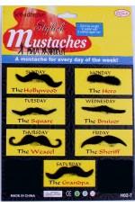 black Moustache party Set