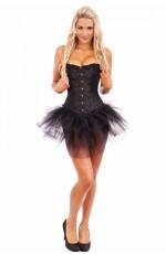 Sexy Black Burlesque Corset with tutu skirt