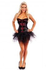 Black Feather Burlesque Corset Tutu skirt