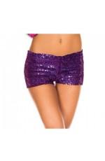 Purple Sequin short