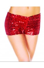 Red Sequin short