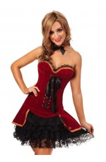 Vintage Vampire Halloween Medieval Fancy Dress Costume