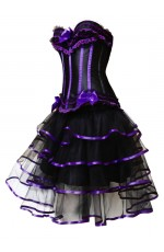 Purple Fancy Dress Corset Outfits