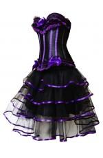 Purple Fancy Dress Corset Outfits