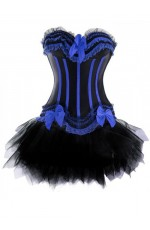 Black Burlesque Boned Corset