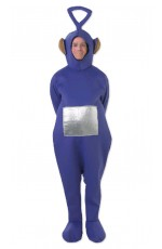 Teletubbies Costume Party Fancy Dress Up Licensed Outfit Unisex Tinky Winky (Purple)  Adult TV Show Jumpsuit