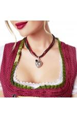 Oktoberfest Necklace Heart Pendant