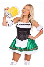 German Oktoberfest Beer Maid Dress Up Costume