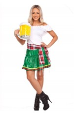 Ladies German Beer Maid Bavarian Oktoberfest Costume Fancy Dress Up Heidi Outfit