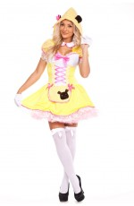 Ladies Goldilocks Fairy Tale Storybook Fancy Dress