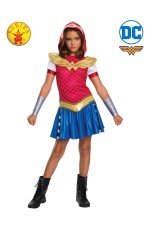 GIRLS WONDER WOMAN DCSHG HOODIE COSTUME
