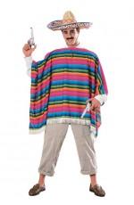 Spanish Mexican Poncho Serape Costumes CL-15750
