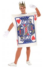 King of Hearts Casino Poker Playing Card Costume