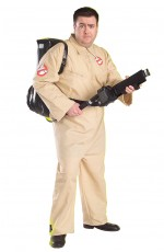 Mens Ghostbusters Plus Size Halloween Adult Costume