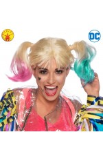 HARLEY QUINN BIRDS OF PREY WIG ADULT