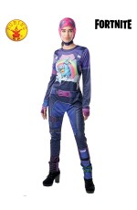 Women Ladies Adult Halloween Cosplay Costume Jumpsuit Brite Bomber Fortnite Zentai