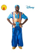Mens Genie Aladdin Disney Live Action Halloween Fairytale Adult Costume