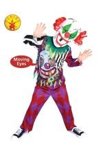Kids Scary Clown Lenticular Circus Costume