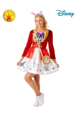 WHITE RABBIT ALICE IN WONDERLAND LADIES COSTUME