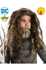 Kids Batman v Superman Aquaman Beard Wig Set Staff League DC Comics Movie Comics Weapon Cosplay Costume Prop Accessory
