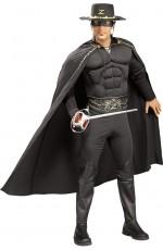 Mens Zorro Muscle Chest Hero Adult Costume