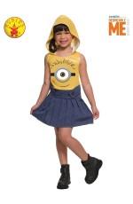 Girls Minion face dress