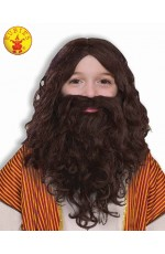 BIBLICAL WIG & BEARD SET, CHILD