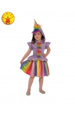 Rainbow Unicorn Girls Fancy Dress Fairy Tale Book Day Animal Kids Childs Costume