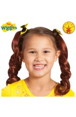 Yellow Emma Wiggle Pigtails With Bows cl6501