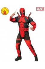 Teen Deluxe Muscle Chest Dead Pool Deadpool Costume