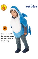 DADDY SHARK DELUXE BLUE COSTUME, CHILD