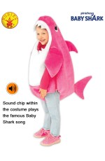 MUMMY SHARK DELUXE PINK COSTUME, CHILD