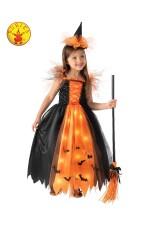 Orange Light Up Witch Child Costume