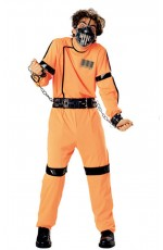 Adult Horror Mens Skitzo Madman Halloween Fancy Dress licenced Costume